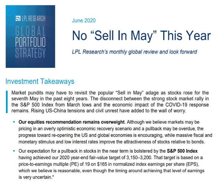 Global Portfolio Strategy | June 9, 2020
